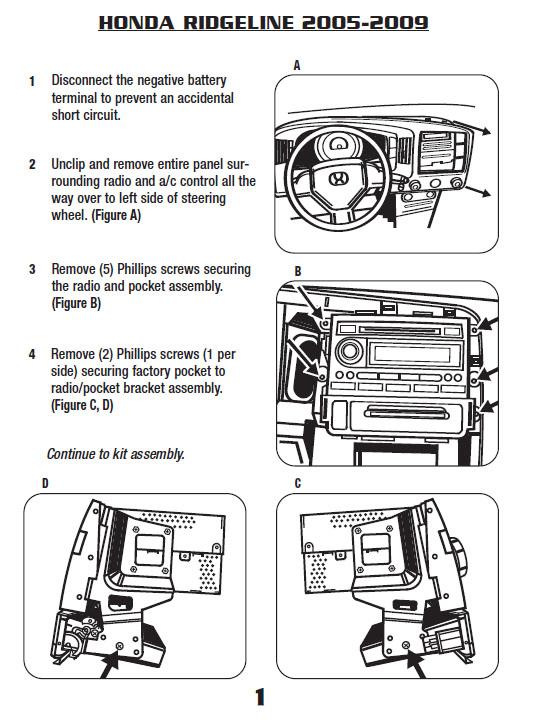 Honda Radio Wire Plug Diagrams Car Stereo Audio