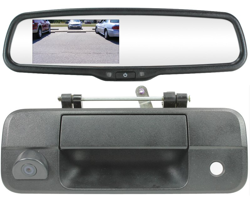 .Complete Mirror,Camera System 2007-2013 Toyota Tundra Tailgate handle integrated camera..