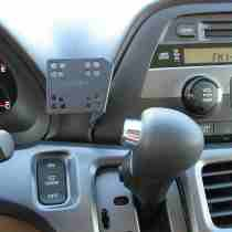 .Bracket for iPod or iPhone - Metal bracket to mount phone, ipod, ham radio, TV monitor, ipod or GPS display securely to the dash without drilling any holes..