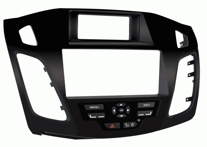 .2012 FORD  FOCUS Double/Single DIN Radio Installation Kit For 2012-Up Ford Focus.