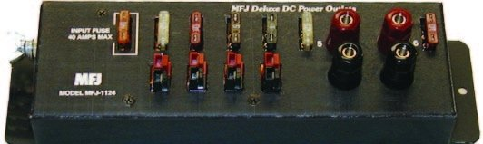.MFJ 1124 DC OUTLETS, 6 ANDERSON POWERPOLE STRIP.