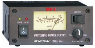MFJ 4230MV Compact 30A SW PS Meter Adj - 4-16V AMATEUR-RADIO MFJ