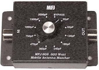 .MFJ 909 MOBILE IMP. MATCHER, INDUCTIVE TYPE, 10-80M, 600W.