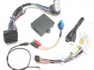 .Video in motion and rear camera interface for 2008 and up Mercedes Benz C class and 2010 and up Mercedes Benz GLK..