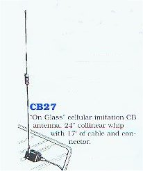 On glass CB antenna