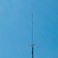 HF 40 meter and 15 meter and 10 meter and 6 meter trap vertical with radials antenna