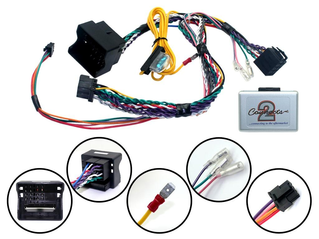 Car Stereo Wire Harnesses Radio Wires For All Audio Wiring 2000 Ford Cd Changer Diagram Click More Info About Bmw Can Bus With Steering Wheel Interface Parking Sensor
