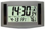MFJ 123B ATOMIC, SOLAR, GIANT, 12/24 HR, DESK/WALL CLOCK