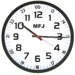 MFJ 126B 24/12 HOUR, QUARTZ ANALOG WALL CLOCK