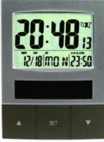 MFJ 136RC SOLAR, BACK LT, 24/12, CALENDER ATOMIC CLOCK