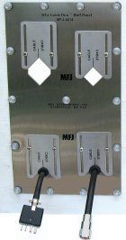 MFJ 4614 4-HOLE ADAPTIVE CABLE WALL PLATE