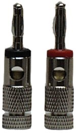 MFJ 7713 The MFJ-7713 is a pack of 1 solderless red and 1 solderless black banana plugs., HI-CURRENT, PAIR RD&BK(600-2310/12)