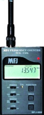 MFJ 888  FREQUENCY COUNTER, DELUXE 10HZ-3GHZ