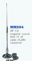 25 inch CB magnetic mount antenna