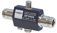 Lightning discharge protector, DC-3000 mhz 200w, type-N female connectors