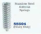 Stainless steel antenna springs (heavy duty)
